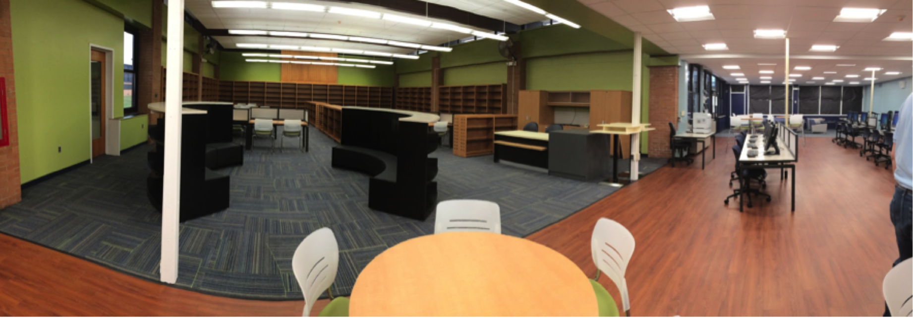 Library shelving on mresc cooperative pricing system archives bci - Great contemporary school furniture ...