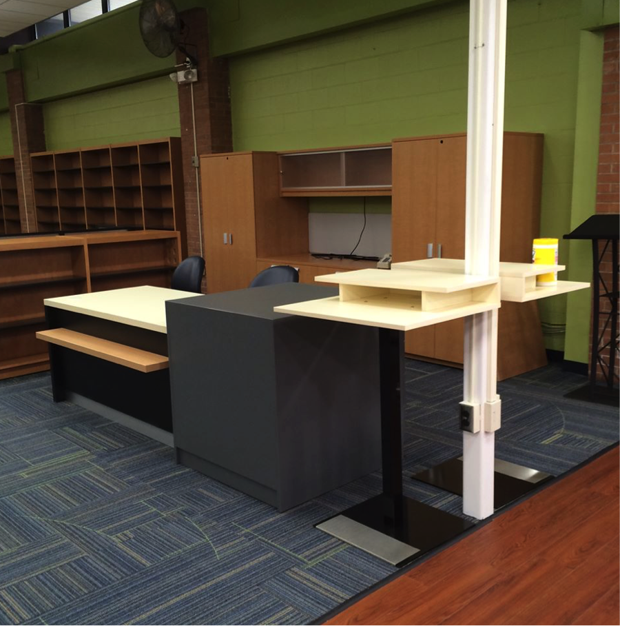 Gentil BCI Modern Library Furniture Redesigns Paramus High School Media Center