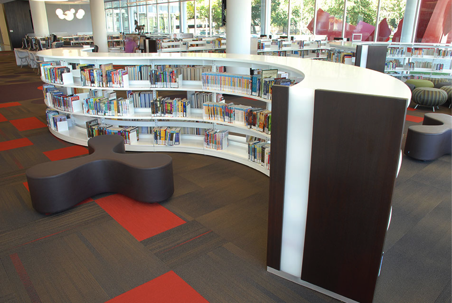BCI Shelving Systems At The Newly Built Cedar Rapids Public Library