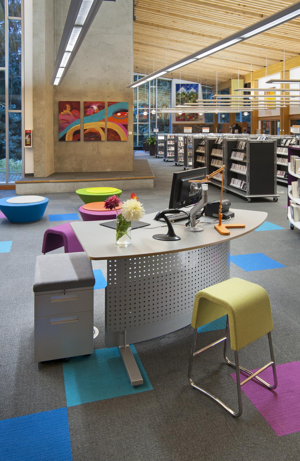 New Modern Library Furniture Seen In British Columbia Canada