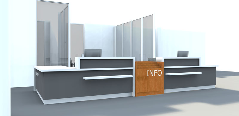 Information Desk Design bci - modern library circulation desk and administrative desk designs