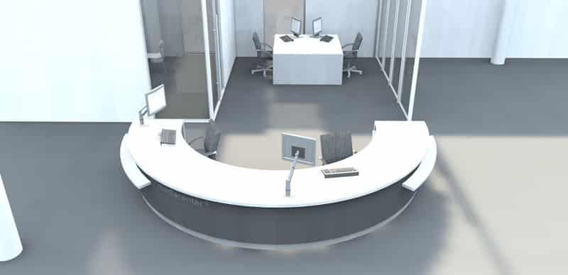 round library circulation deskjpg - Library Circulation Desk Design