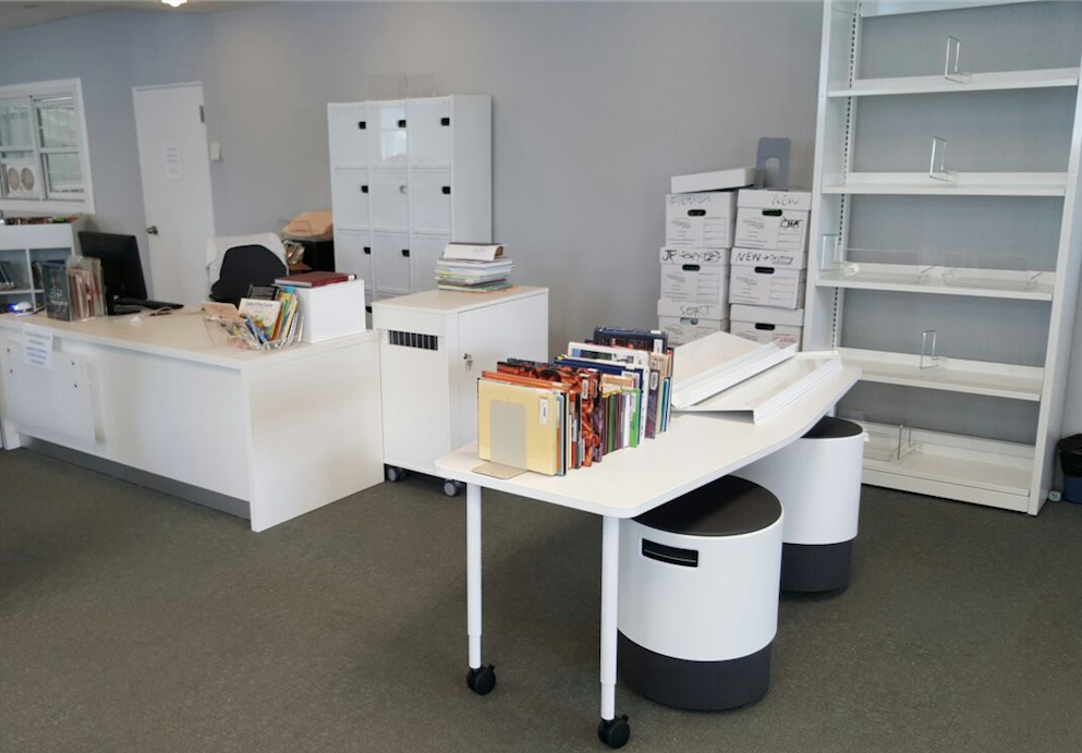 the somersfield academy current installation bci modern library furniture