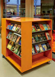 Ratio Square Display Shelving with Casters