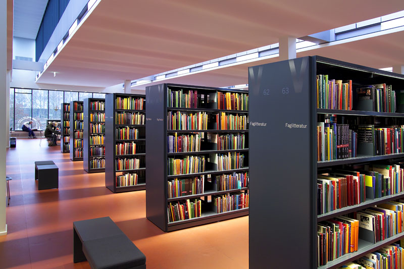 Classic Steel Shelving For Modern Library Interior Design