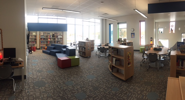 BCI - WI Elementary School Completed with BCI Modern Library Furniture