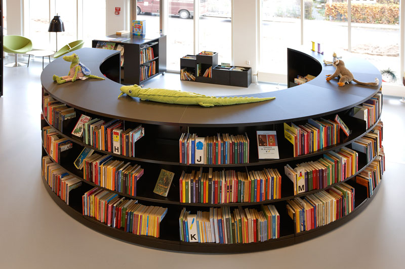 Bci Steel Radius Shelving Great For Modern Library Design