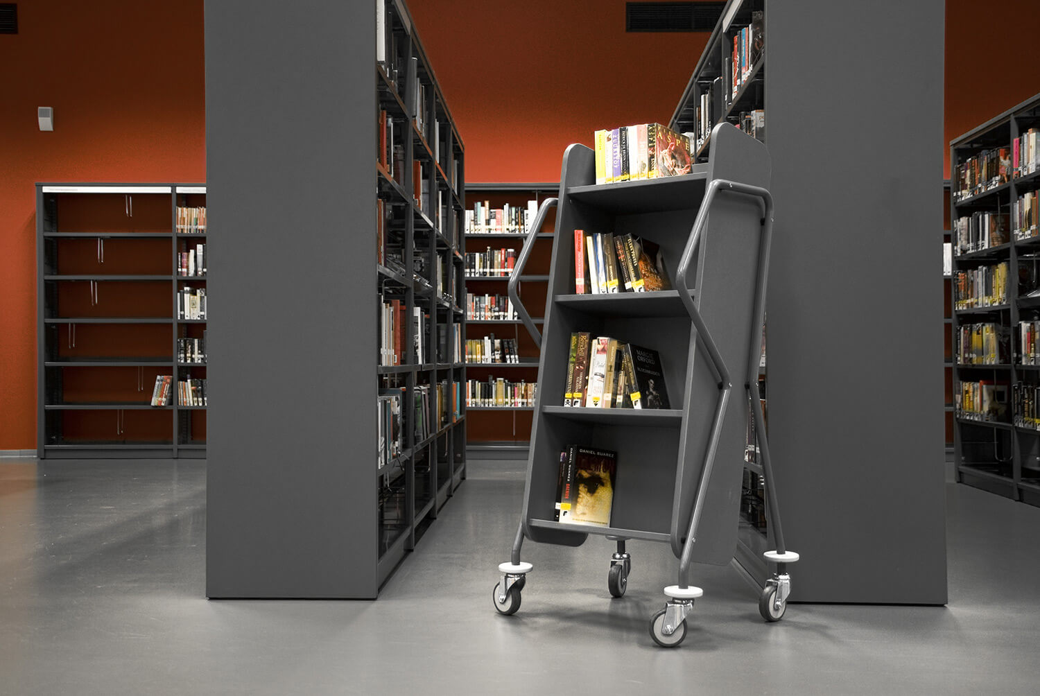 Modern Library Book Trolleys and Returns - BCI Libraries