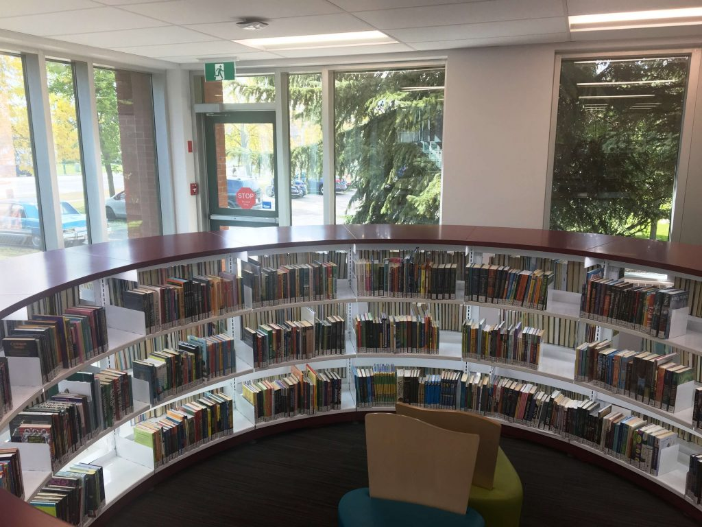 Curved Steel Library Shelving
