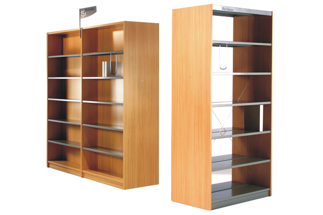 Ratio Laminate Shelving with Steel Shelves