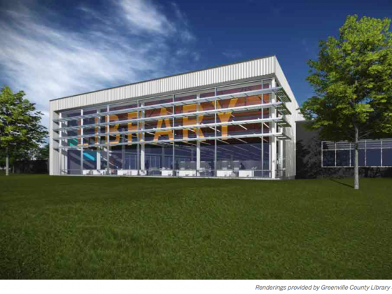 Five Forks Branch Library rendering