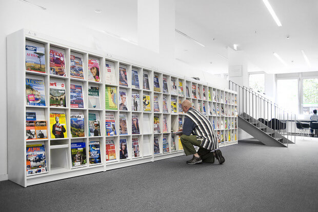 Magazine Display Shelving