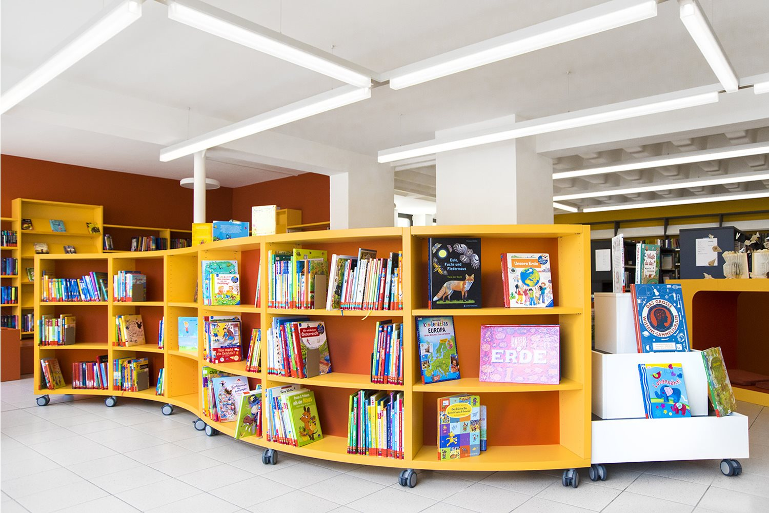 Childrens Curved Shelving