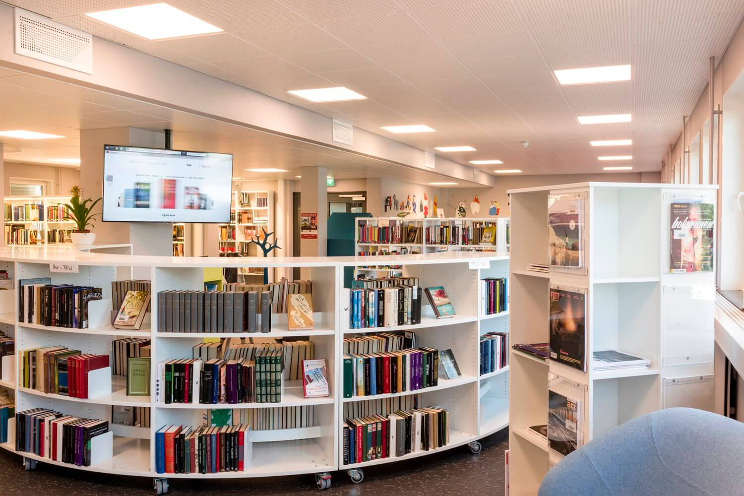 Curved Mobile Shelving