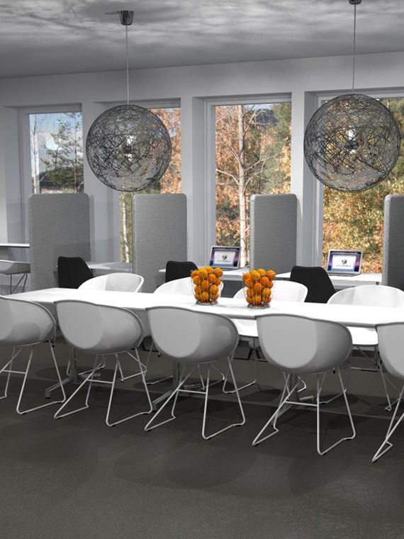 Popcorn Chairs around a table