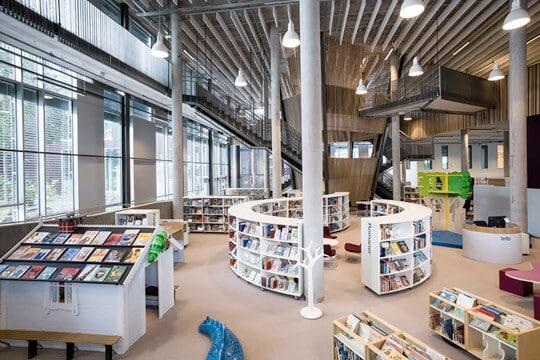 Nesodden Public Library interior
